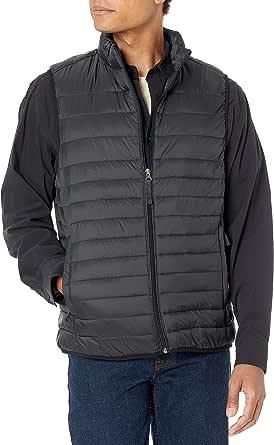 Amazon Essentials Lightweight Water-Resistant Packable Puffer Vest Coat