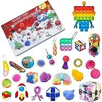 MIEAHORY Figetget Toys Pack Cheap, Fidget Sensory Jouet Set, Jouets d'outils Anti-anxiété, Squeeze Bean, Flippy Chain…