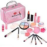 balnore Set de Maquillaje Niñas, 21 Piezas Lavables Maquillaje para Niñas, Maletin Maquillaje Infantil, Princesas para Fiesta