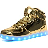 Voovix Kids LED Light up Shoes Flashing Trainers High-top Charging Sneakers with Remote Control for Boys and Girls