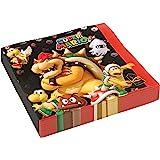 Amscan 9901538 – servetter Super Mario, 20 stycken, 33 x 33 cm, festtallrikar, barnfödelsedag