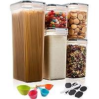 Aitsite Boîte de Rangement Cuisine Lot de 5Pcs, Boîte de Conservation Alimentaire en Plastique Sans BPA, Boîte…