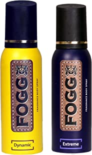 Fogg Dynamic Fragrance Body Spray, 120ml & Extreme Fragrance Body Spray, 120ml Combo