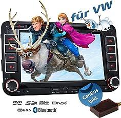 2DIN Autoradio CREATONE VW7000 mit GPS Navigation (Europa), Bluetooth, 7 Zoll (18cm) Touchscreen, DVD-Player und USB/SD-Funktion für Golf 5, Golf 6, Passat B6, Passat B7, Passat CC, Touran, Caddy, Jetta, Polo 5, Scirocco, Tiguan, T5 Transporter, T5 Multivan, Beetle, Sharan 2, Amarok