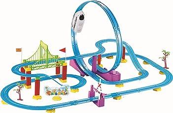 Webby Big Track Racer J1 Train Set, Multi Color