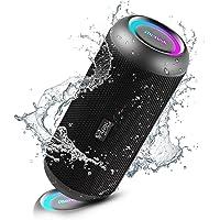 RIENOK Cassa Bluetooth Potenza 30W HD Stereo Altoparlante Bluetooth, Luce LED, Bassi Potenti, Speaker Bluetooth IP67…