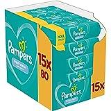 Pampers Fresh Clean Babydoekjes 15 Verpakkingen Met 80 Doekjes = 1200 Doekjes Met Zachte Frisse Geur En Dermatologisch Getest