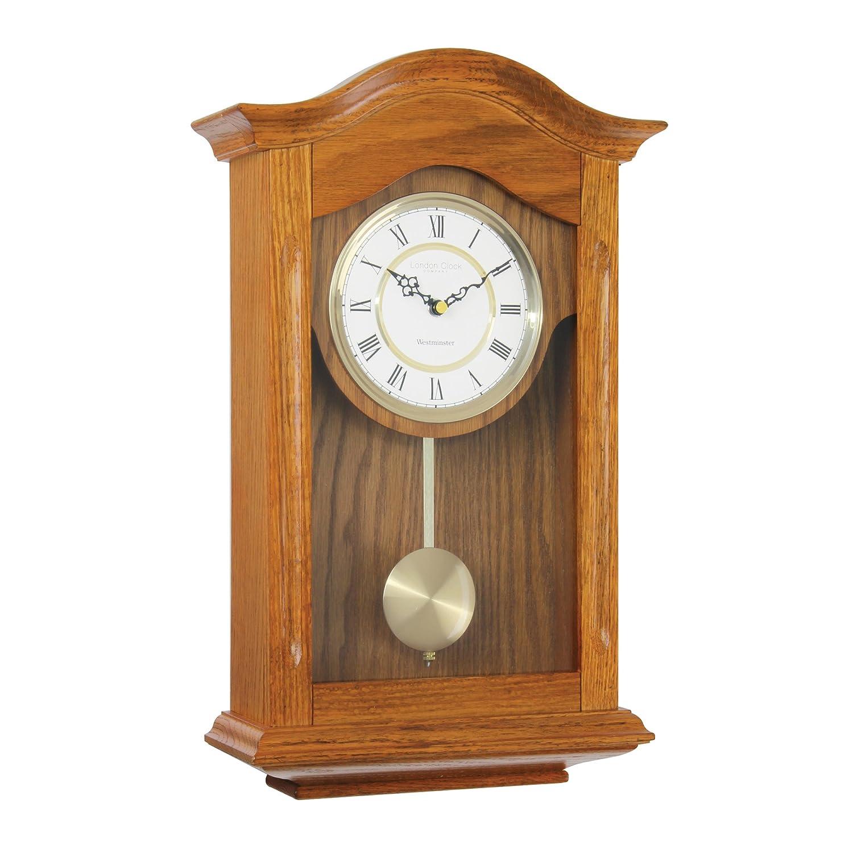 Fox and simpson orologio a pendolo in legno di quercia for Foto orologio da parete
