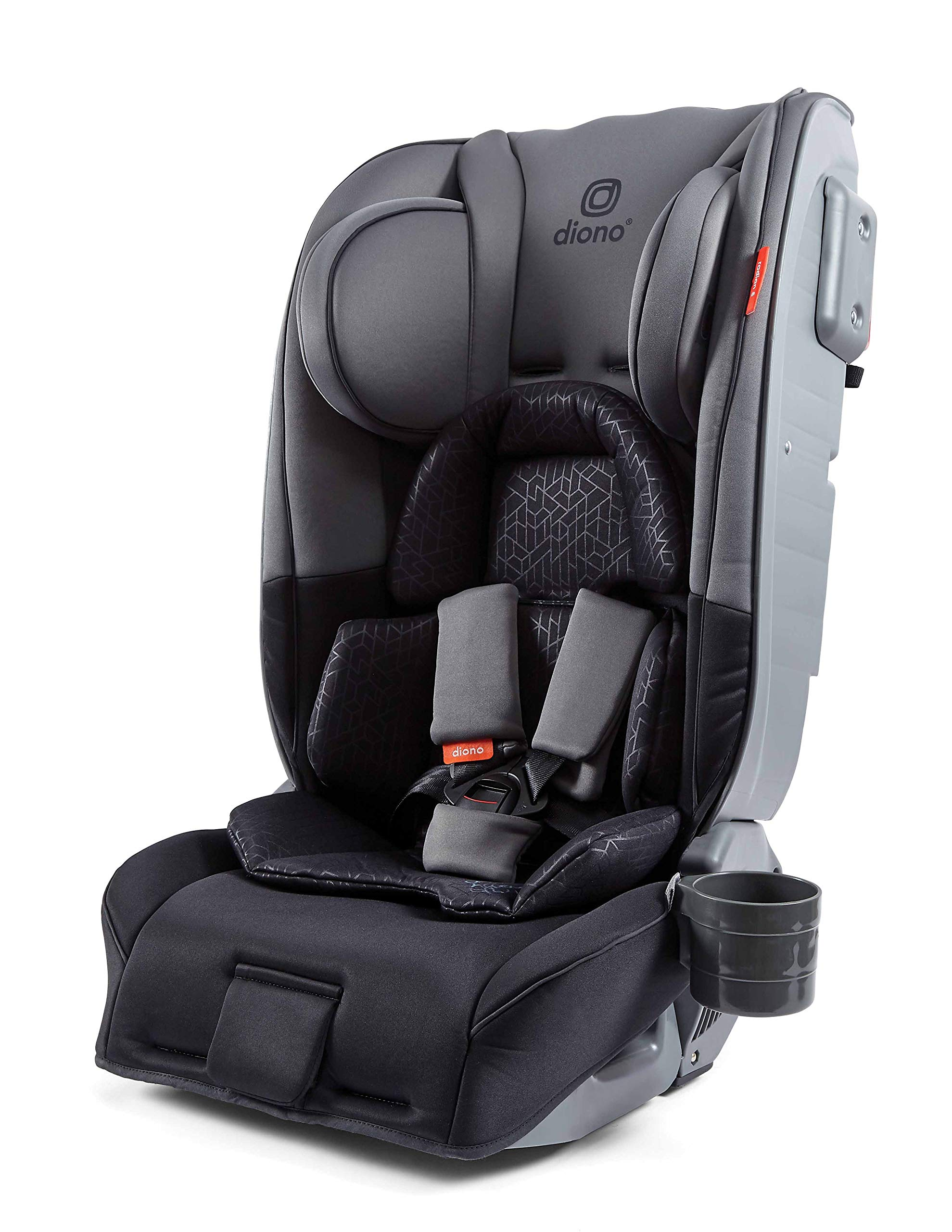 Diono Radian 5, Group 0+/1/2 Car Seat, Extended Rear-Facing from Birth to 25kg, Forward-Facing 9-25kg, Dark Grey Diono The Original 3 Across Car Seat: Radian 5's clever design has a slimline profile allowing you to install three across in your vehicle without compromising internal seat dimensions or comfort. Worth the weight: Engineered with the famous Diono full, high-strength steel core that forms an unyielding structure to shield and protect your little one. Extended rear-facing: Keep your little ones in the safest travel position for as long as possible, from birth up to 25 kgs (approx. 6 years old). 2