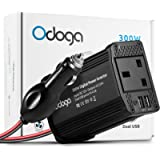 Odoga 300W Car Power Inverter 12V to 240V / 230V Converter With Dual USB 4.8A Charging Ports - Charge Your Laptop, iPad…