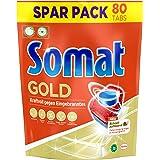 Somat Gold Spülmaschinen Tabs, 80 Tabs, Geschirrspül Tabs mit Extra-Kraft gegen Eingebranntes und Glanz-Effekt