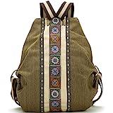 حقيبة ظهر قماشية للنساء حقيبة يومية كاجوال حقيبة كتف، حقيبة سفر كلاسيكية شديدة التحمل مضادة للسرقة