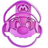 Taglia biscotti del volto di Mario Bros che ride sotto i baffi