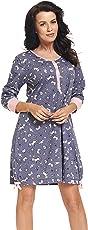 dn-nightwear Damen Nachthemd Louisa für Schwangerschaft und Stillzeit