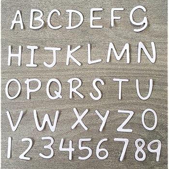 Simplelettering Stanzschablone//Cutting Dies ABC 5cm XXL Buchstaben f/ür Big Shot Stanzmaschinen