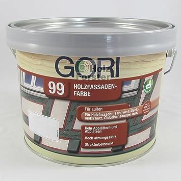 Fassadenfarbe lichtgrau  GORI 99 Holz- und Fassadenfarbe 2052 Lichtgrau, 2,50 Liter: Amazon ...