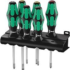 Wera 335/350/355/6 Schraubendrehersatz Kraftform Plus Lasertip + Rack, 6-teilig, 05105622001
