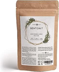 Nordic Pure Bentonit Pulver 500-2000g Mineralerde/Tonerde | Premium Qualität 95% Montmorillonit | Extra Fein