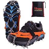 Rakaraka Kramponger för skor, dragskor issnö grepp med 19 spikar i rostfritt stål, skotalonger anti-glid boots spikar för pro