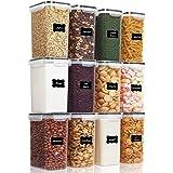 Vtopmart 2L boîtes de Conservation Alimentaire sans BPA de Nourriture en Plastique avec Couvercle,Ensemble De 12+24 Étiquette