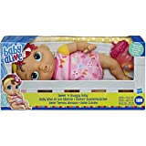 Baby Alive E7599 Alive Sweet 'n Snuggly Baby, Soft-Bodied Washable Doll, Includes Bottle, First Baby Doll Toy for Kids 18 Mon