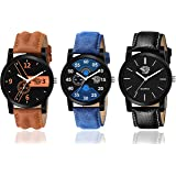 Swadesi Stuff Multi Color Dial Analogue Combo Men Watches Pack of 3