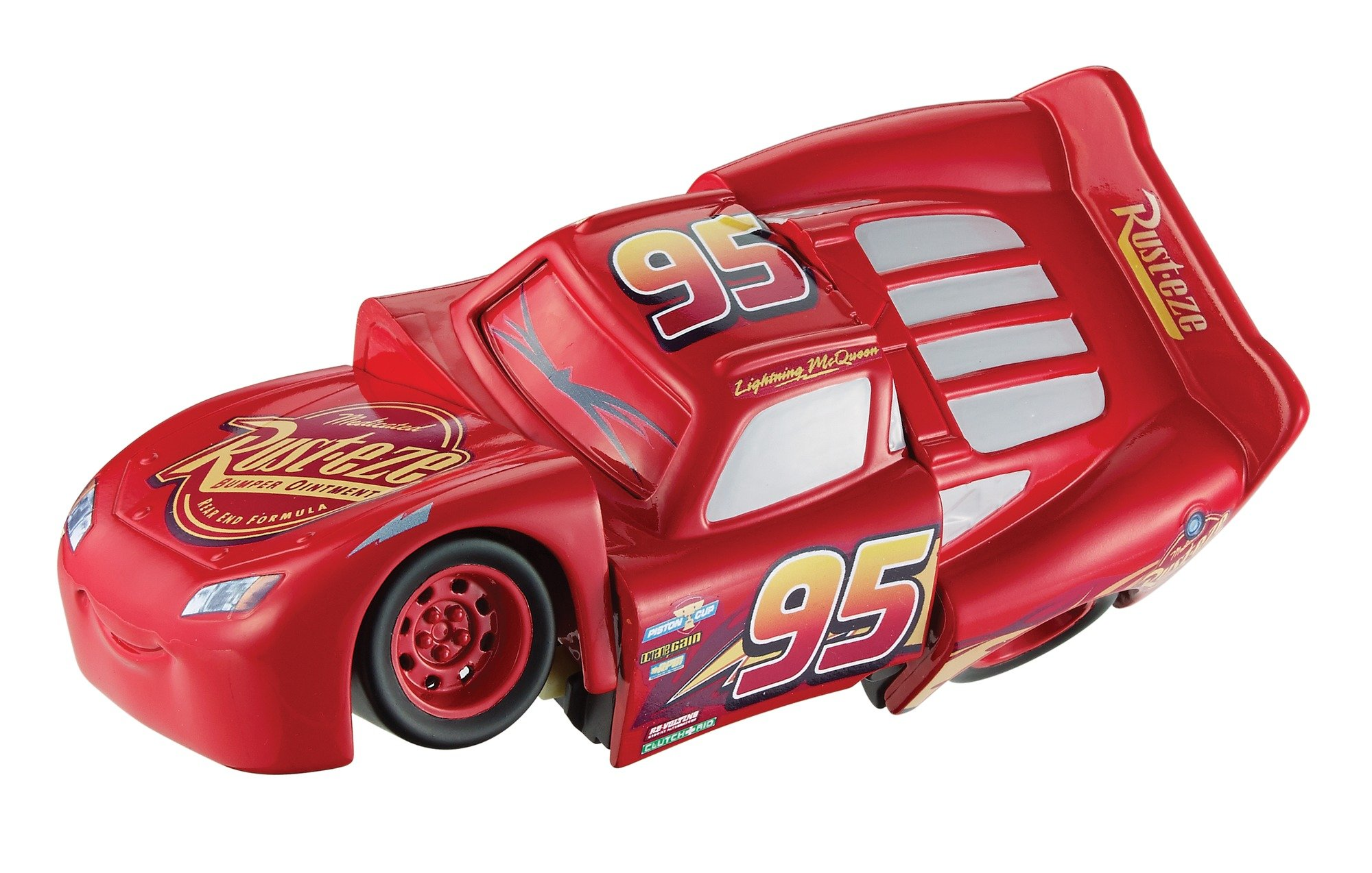 Disney DYW39 Pixar Cars 3 Race and Reck Lightning McQueen Vehicle Disney New Disney Pixar Cars 3 Twisted Crashers vehicle.  His body twists and his eyes change after the crash!  Restore him to his former; pre smash glory by simply twisting the car back into place! 11