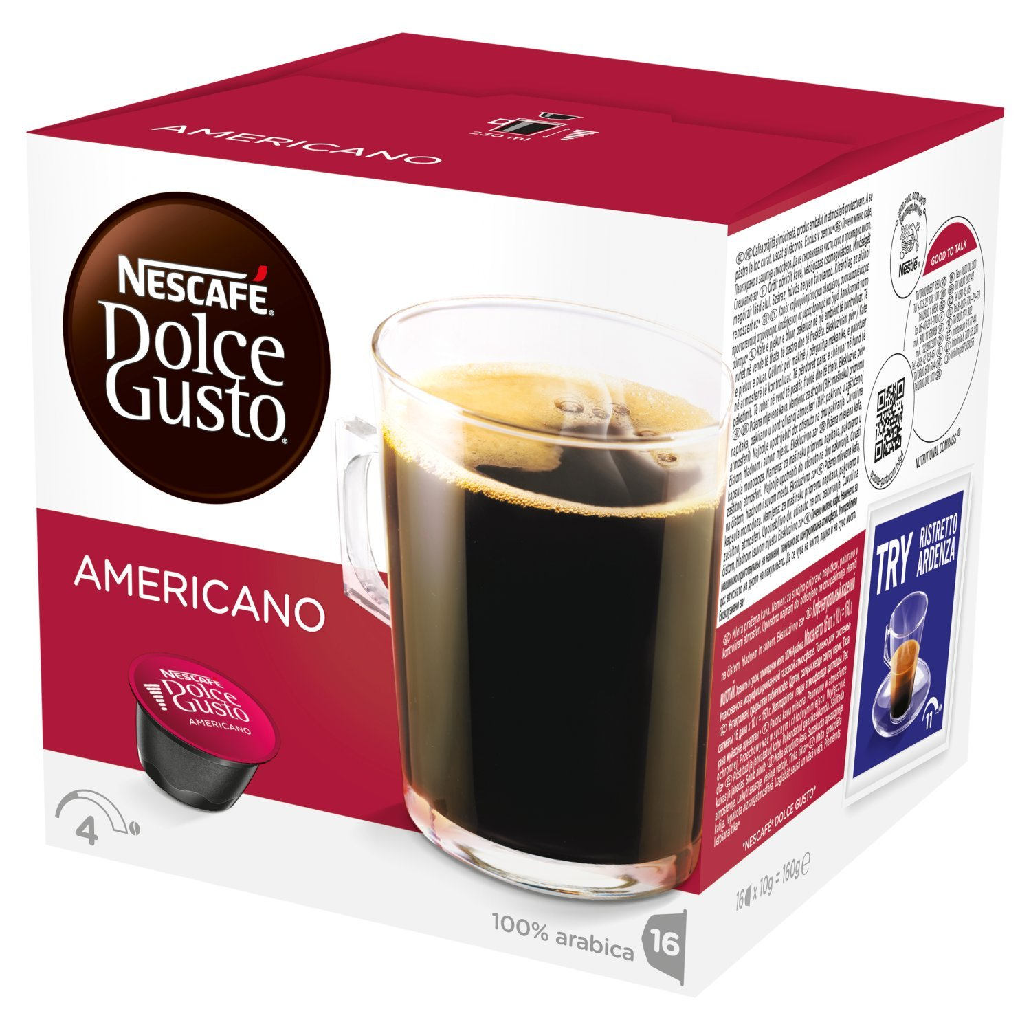 Nescafé Dolce Gusto Cafe au lait coffee pods and capsules (a floral notes, fruit notes, lychee, rose coffee with aromas of dried fruit and citrus fruit, fresh fruit and petals)
