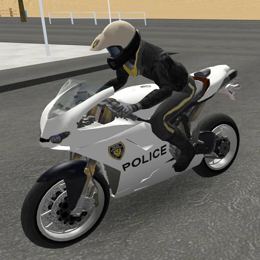 Police Motorbike Road Rider -