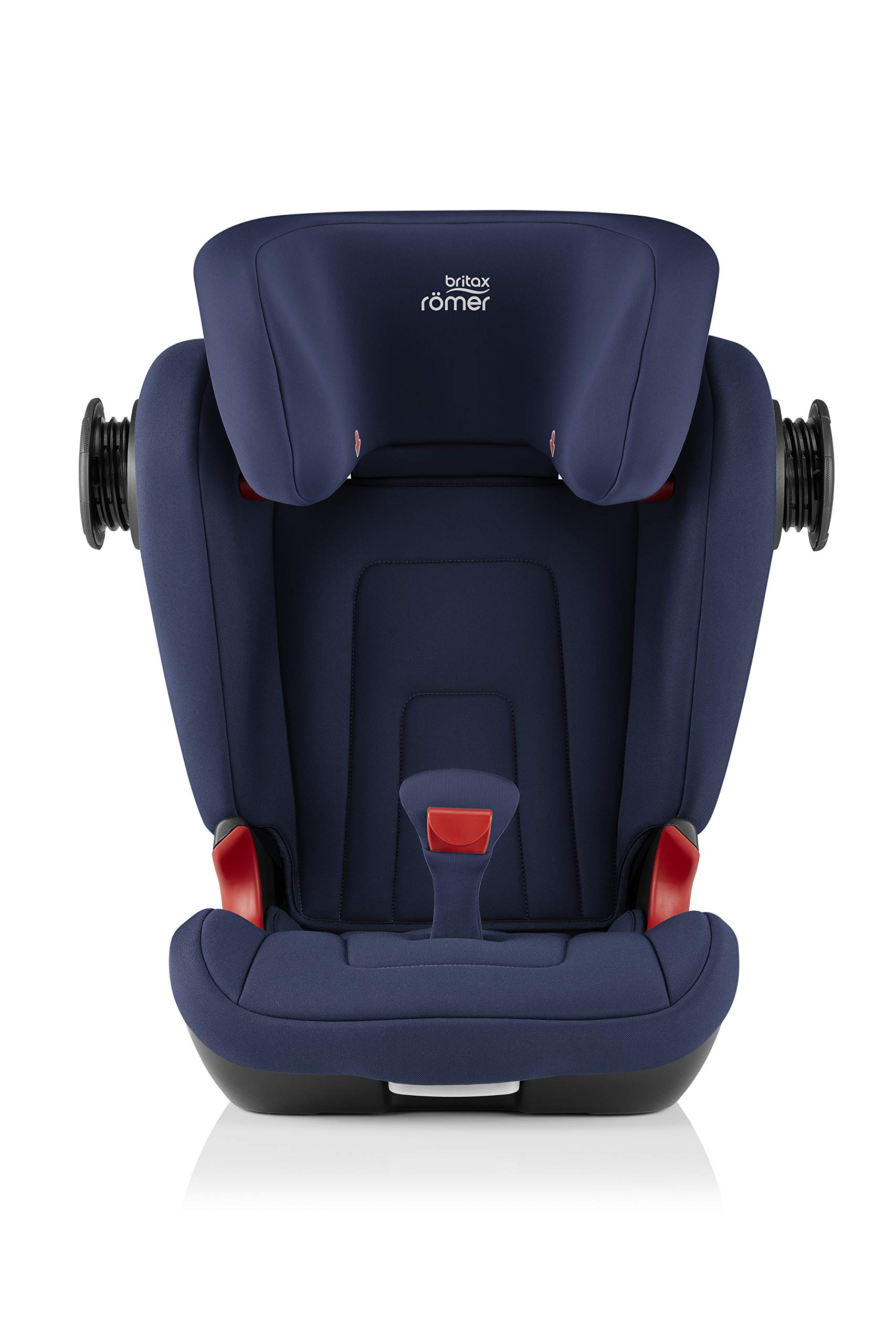 Britax Römer KIDFIX² S Group 2-3 (15-36kg) Car Seat - Moonlight Blue  Advanced side impact protection - sict offers superior protection to your child in the event of a side collision. reducing impact forces by minimising the distance between the car and the car seat. Secure guard - helps to protect your child's delicate abdominal area by adding an extra - a 4th - contact point to the 3-point seat belt. High back booster - protects your child in 3 ways: provides head to hip protection; belt guides provide correct positioning of the seat belt and the padded headrest provides safety and comfort. 6
