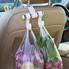 JN Retails Auto Car Seat Headrest Bag Hook Hanger, Color: Cream