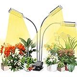 VOGEK Plant Grow Light, Grow Light for Indoor Plants, Plant Light Full Spectrum for Seedlings with Timer, Adjustable Goosenec