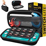 Orzly Case for Nintendo Switch Lite - Protective Carry Case with storage for Switch Lite Games & Accessories [Solid Black]