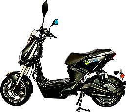 GinkGo R1 Elektroroller mit Straßenzulassung - Zweisitzer - 45 km/h - bis zu 120 km - herausnehmbarer Lithium Ionen Akku - schwarz