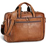UBaymax Leder Aktentasche Laptoptasche Herren, Vintage Ledertasche Businesstasche für bis 17 Zoll Laptop, Klassische Echt-Led