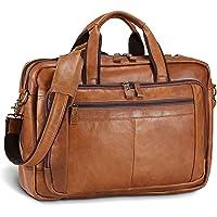 UBaymax Leder Aktentasche Laptoptasche Herren, Vintage Ledertasche Businesstasche für bis 17 Zoll Laptop, Klassische…