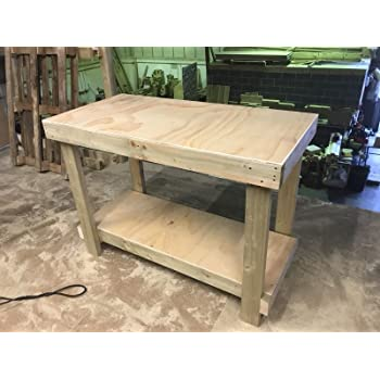 Workbench Woodworking Hard Wood With Drawer 2 Vices Amazon Co Uk