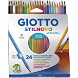 Giotto Stilnovo Acquarell Lápices de Colores Acuarelables, Estuche 24 Uds.