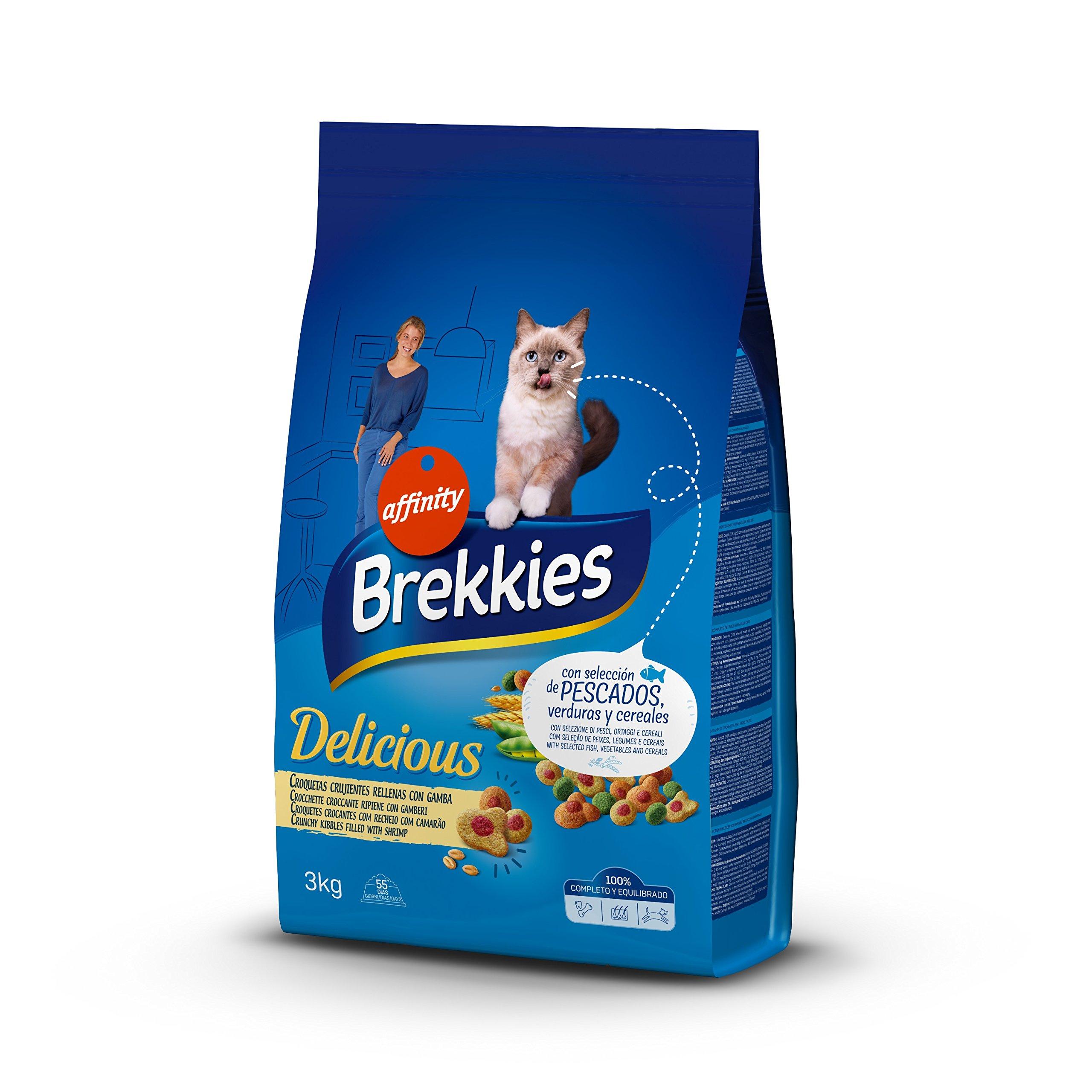Brekkies Pienso para Gatos Delicious con una Selección de Pescado – 3000 gr