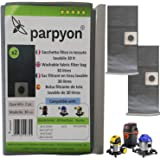 Parpyon® Stofzuigerzakken voor stofzuiger Balck Decker - Annovi Refoli 30l Stanley Nr. 2 filter Hepa-filter van stof wasbaar