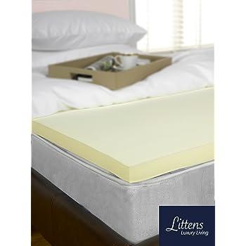 "Littens 1"" Double Bed Size Memory Foam Mattress Topper Visco 25mm 4ft6"