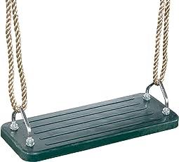 Ultrakidz Gummi-Schaukelsitz, Schaukelbrett mit Metallkern für noch mehr Schwung, inklusive Seil, höhenverstellbar, Grün