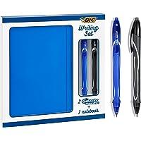 BIC Writing Set - 2 BIC Gel-ocity Quick Dry Penne Gel con Punta Media (0,7 mm) E 1 Taccuino A Righe A5, Set Da Regalo Da…