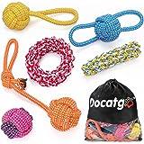 Docatgo Jouet Interactif pour Chien, Jouet Chien en Coton Naturel Moelleux sûr Sain Balle Chien Accessoire Chien Lot de 6 de