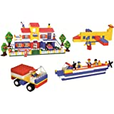 Multi Coloured 900+Pcs Mega Jumbo Architect Building Blocks with Attractive Blocks and Smooth Rounded Edges - Building…