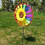 Wiffe Girandola, giravento a forma di girasole, decorazione per il giardino di casa, giocattolo per bambini