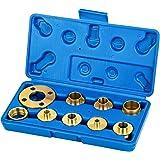 Katsu, 10 stuks sjabloonroutergids kit met contramoer-adapter, sjabloon gids bushing kit voor cut-out werk, reinigingswerkzaa