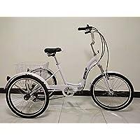 SCOUT Tricycle Pliant Adulte de qualité, Trike, Engrenages Shimano à 6 Vitesses, Cadre en Alliage Pliant