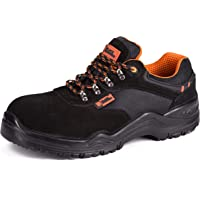 Black Hammer Mens Safety Trainers Lightweight Composite Toe Cap and Kevlar Midsole Work Boots Shoes Hiker Extra Grip S1P…