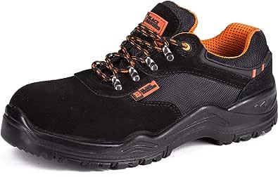 Black Hammer Scarpe Antinfortunistiche S1P SRC Sicurezza da Uomo Leggere in Materiale Composito e Intersuola Kevlar Traspirante Sneaker da Lavoro Leggere ed 1557
